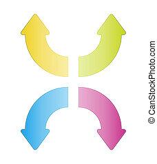 fresh color arrows