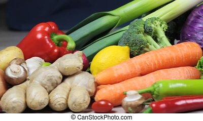 Fresh colorful vegetables ( 1080p HD Video )