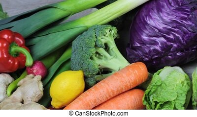 Fresh colorful vegetables 1080p HD Video