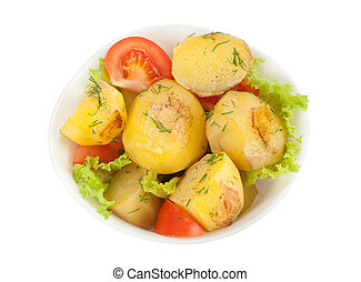 Fresh cooked potatoes in a bowl