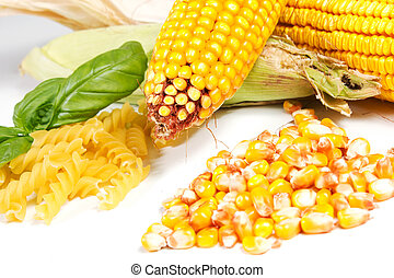 Fresh corn and pasta