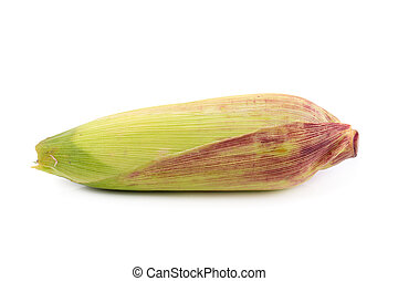 Fresh corns isolated on a white background