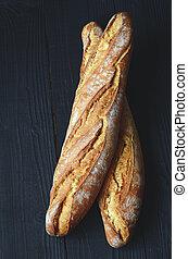 Fresh crispy baguette