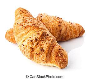 fresh croissant isolated on white background