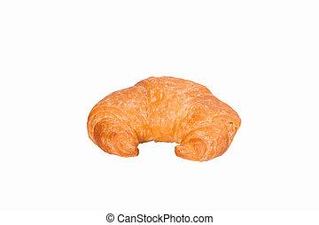 Fresh Croissant isolated on white background.