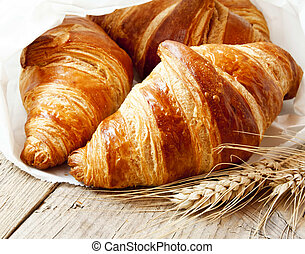 Fresh Croissants, Delicious French Breakfast