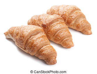 Fresh croissants isolated on white