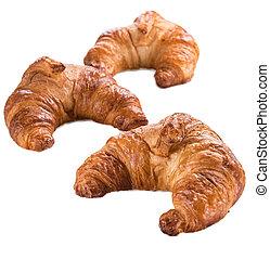 Fresh Croissants (isolated on white)