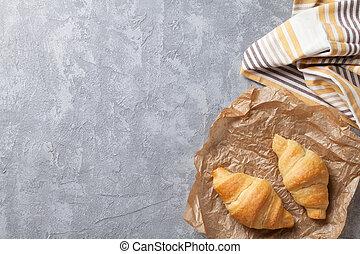 Fresh croissants