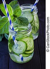 Fresh cucumber drink