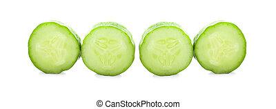 Fresh cucumber, isolated on white background