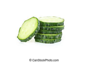 Fresh cucumber isolated on white