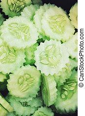 Fresh Cucumber slices background