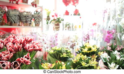 Fresh Cut Bouquets In Flower Shop
