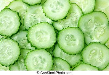 cut cucumber slices