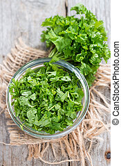 Some fresh cutted Parsley (detailes close-up shot)