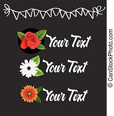 Fresh Decorative Flowers Banners