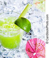Fresh delicious lime smoothie
