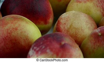 Fresh delicious peaches