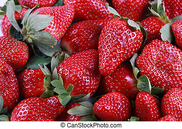 Fresh delicious strawberries - Fresh delicious red...