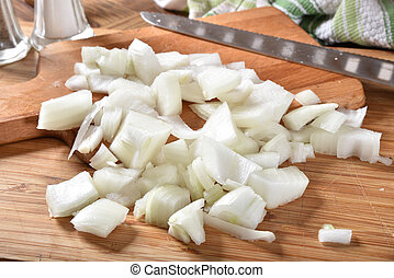 Fresh diced onions