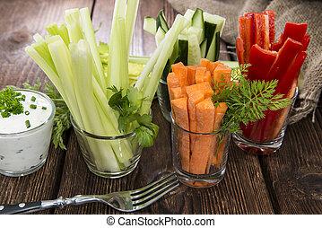 Fresh diet food - Crudites stripes (fresh diet food)