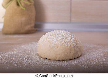 Fresh dough ball