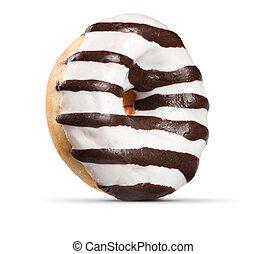 Fresh doughnut. Donut isolated