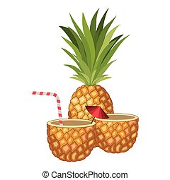 fresh drink pineapple cocktail