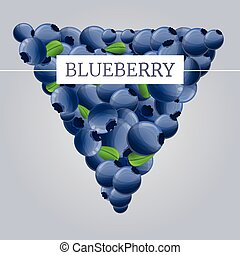 Fresh eco blueberry concept background, cartoon style