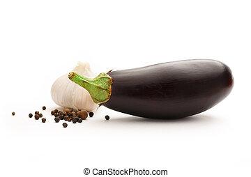 Fresh eggplant with garlic