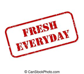 Fresh Everyday Rubber Stamp Vector