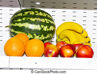 Fresh exotic fruits in a market