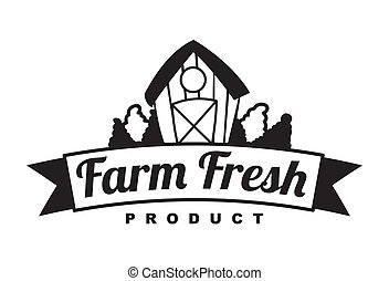 fresh farm label over white background vector illustration