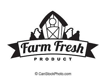 fresh farm label over white background vector illustration
