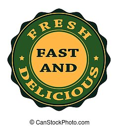 fresh fast and delicious stamp