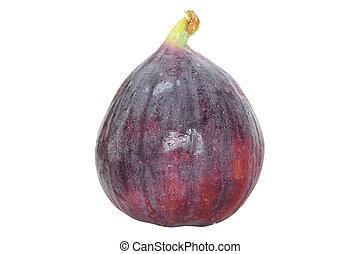 Fresh fig fruit isolated on white - Closeup of fresh whole...