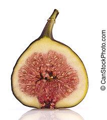 Fresh fig  isolated on white