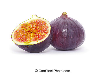 figs  - fresh figs isolated on white background