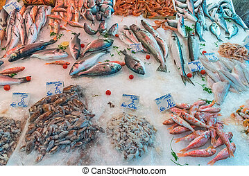 Fresh fish and seafood in Sicily
