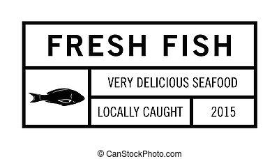 Fresh fish badge collection