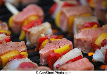fresh fish grilling