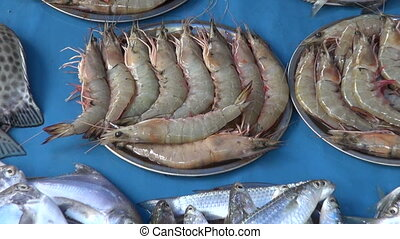fresh fish, prawns and squids,India