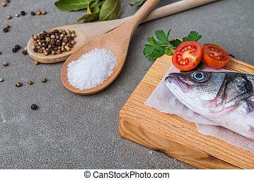 Fresh fish sea bass