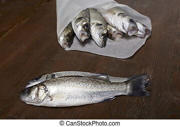 fresh fish, sea bass