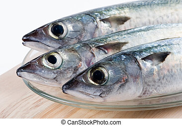 Fresh fishes - Three fishes on a plate