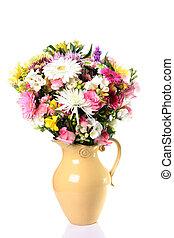 Fresh flower bouquet in a vase.