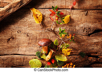 Fresh food from an autumn forest