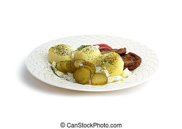 Fresh food on a plate