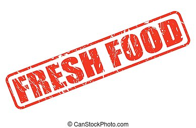 Fresh food red stamp text